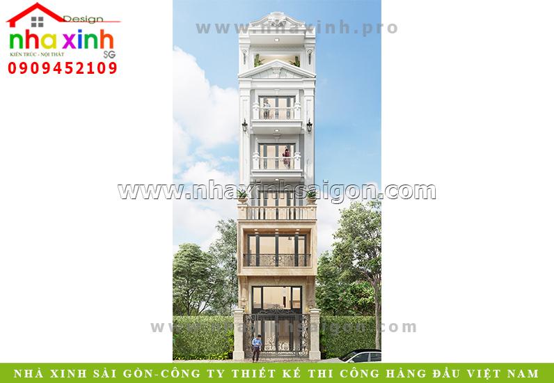 Mẫu Nhà Phố 5 Tầng Đẹp | Anh Quyền | Phú Nhuận