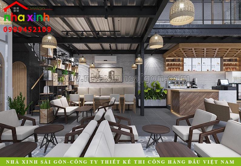 Thiết Kế Nội Thất Quán Cafe Bình Thạnh | Chị Hương