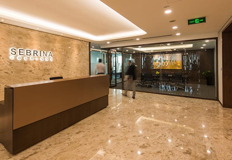 Thiết Kế Văn Phòng Tập Đoàn Sebrina Holding